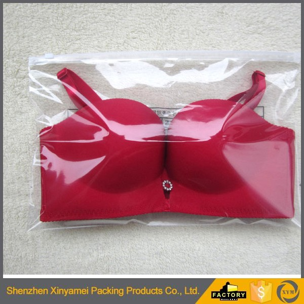 custom made printed frosted /matte clear plastic pants bags/ clothes packaging bag with slider zip lock zipper puller