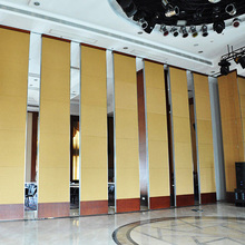 Banquet hall acoustic movable wooden soundproof sliding room folding partition wall