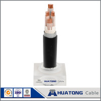 Electric wire color code low voltage PVC insulated 4 core 70mm2 copper armored electric power cable