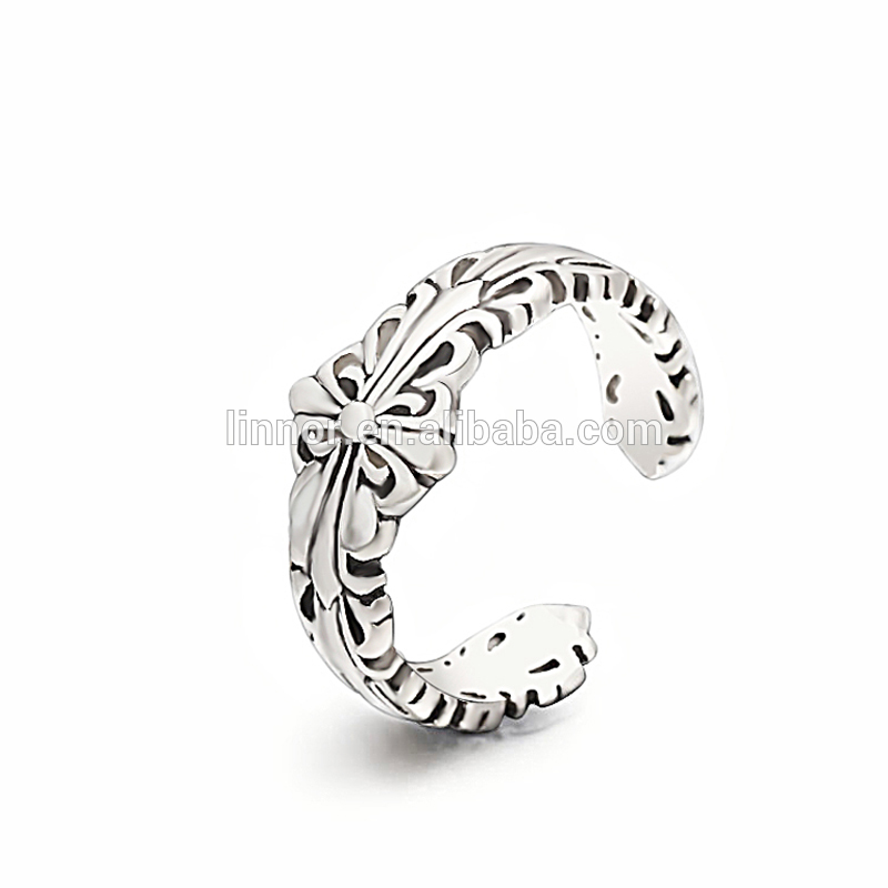 New design pure 925 sterling silver antique rings engraved engagement ring Turkish silver ring man