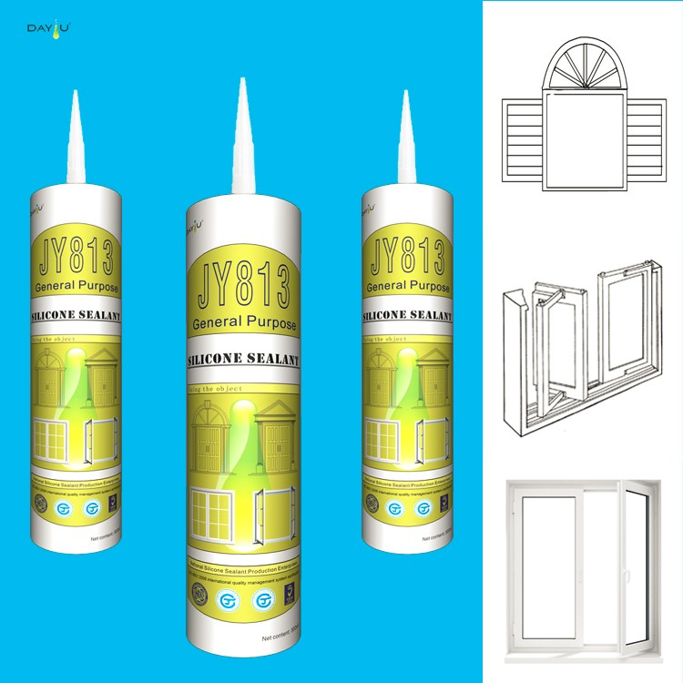 Fast Curing Construction Joint Liquid Silicon Sealant In Tubes 300ML JY813