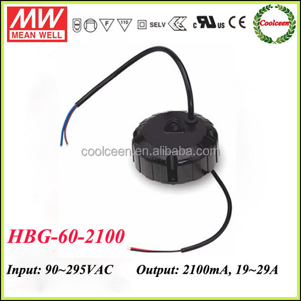 Meanwell HBG-60-2100 round shape led driver