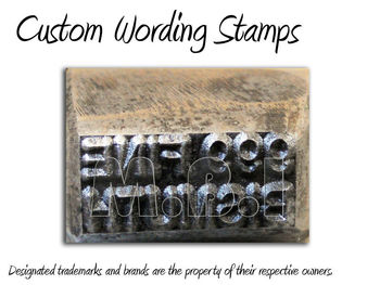 Metal Stamps, Logo Stamps, Leather Stamps 1inch