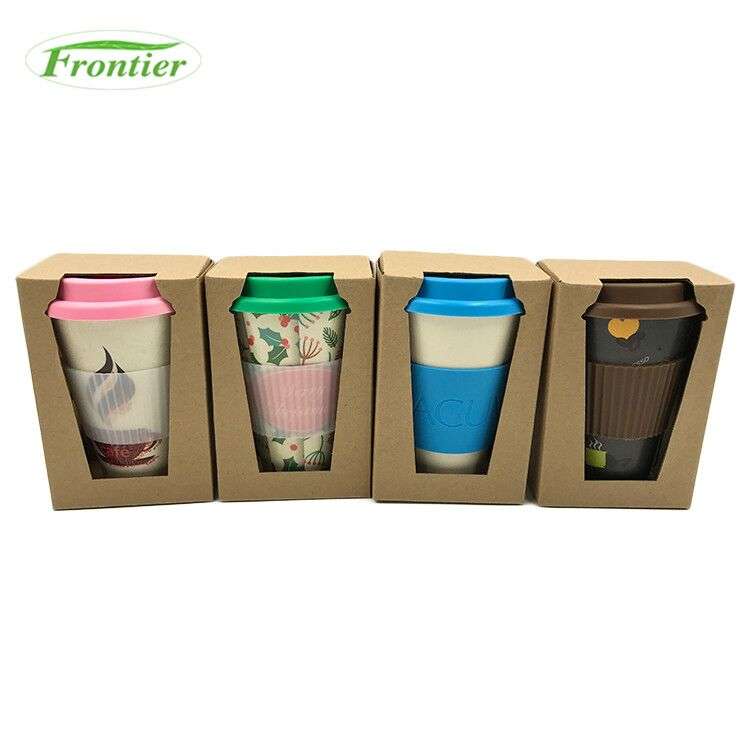 Eco-Friendly OEM Customizable Silicone Lids Reusable Bamboo Fiber Coffee <strong>Cup</strong>