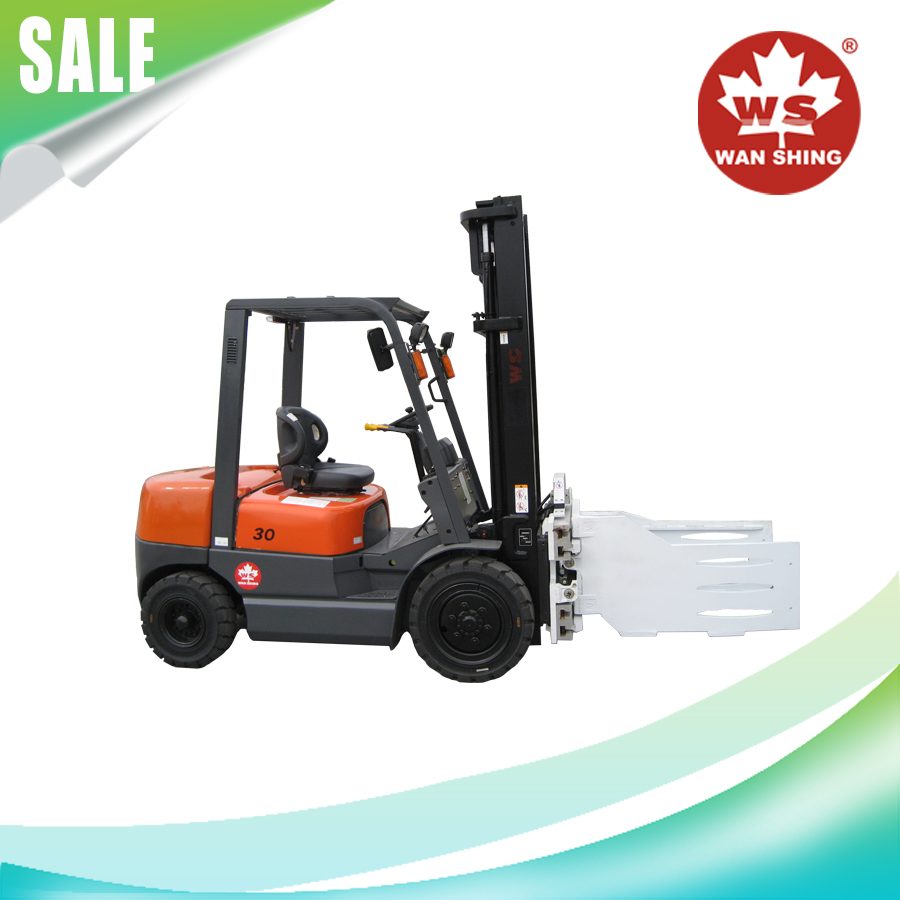 Famous brand 3T diesel forklift truck with bale clamp