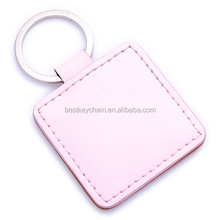 promotional key chain metal / leather promotion keyring