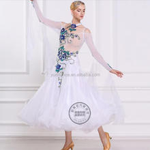 new fashion white ballroom dresses for competition B-1690