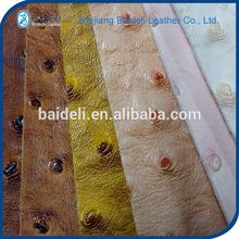 ostrich pattern China pvc imitation leather fabric products