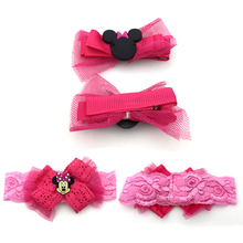 Cute baby hair band kids lace kit headband