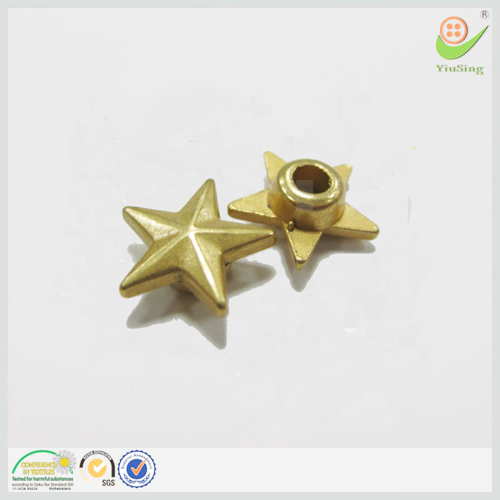 Factory Nickel Lead Free Antique Brass Stud Metal Star Rivets