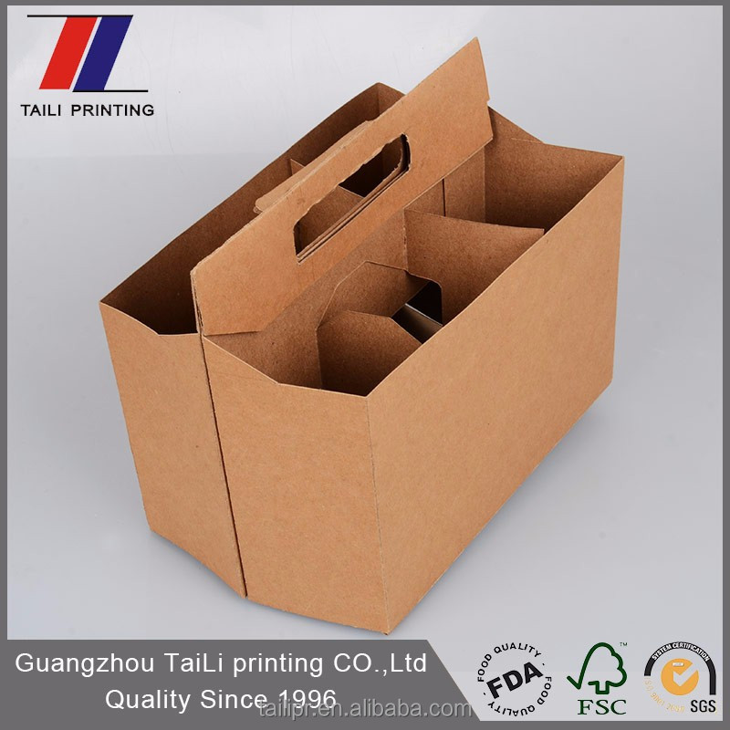Customized beer carrier beer bottle boxes uk