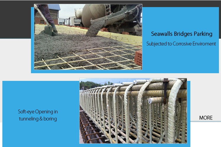 High strength GFRP rebar, GRP rebar, Glass fiber rebar