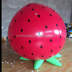 Hot selling inflatable strawberry,motif strawberry fruit model