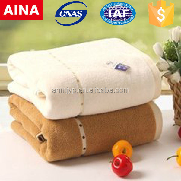 China Top 10 towels' supplier high quality 100% cotton Plain weave hot sale color wet towel