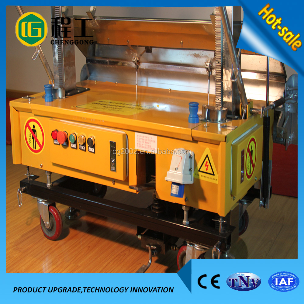 China Factory Dealers Automatic Wall Cement Plaster Machine Price
