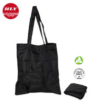Wholesale Eco 210D Waterproof Folding Nylon Tote Bags With pouch
