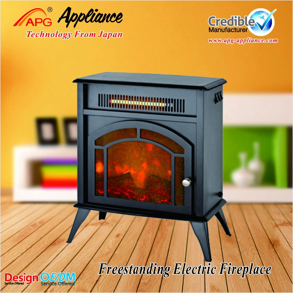 European freestanding decor flame electric fireplace heater, led fireplace heater