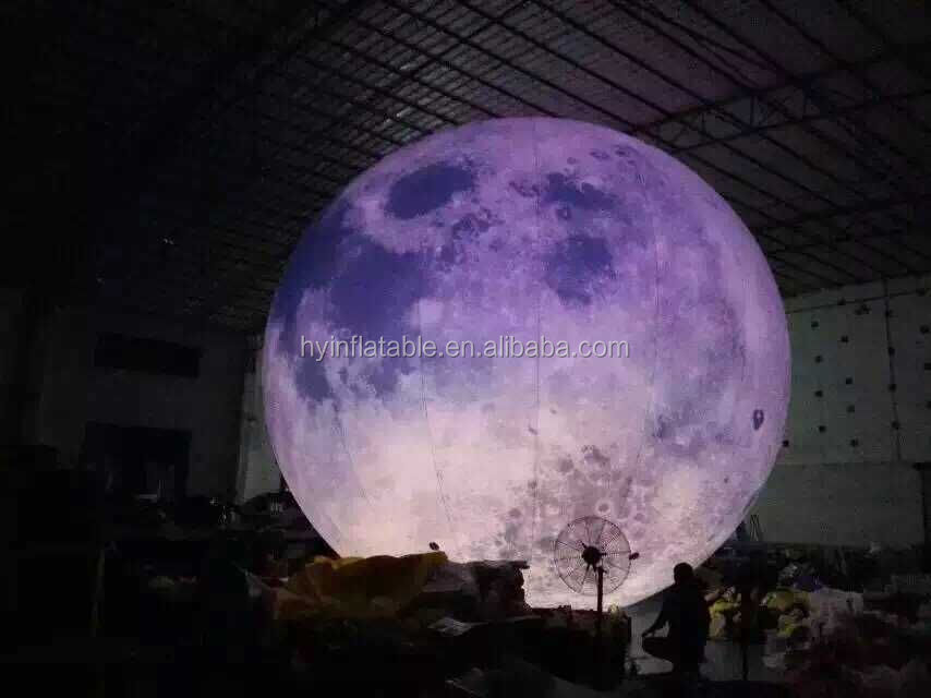2M inflatable balloon, inflatable moon balloon, inflatable planet balloon for advertising