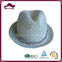 Best sell exporting light blue summer beach hat for women