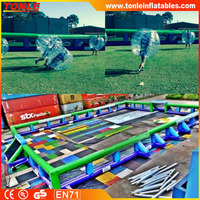 inflatable Bubble Soccer With 35m Inflatable Surround, giant inflatable Bubble Soccer field