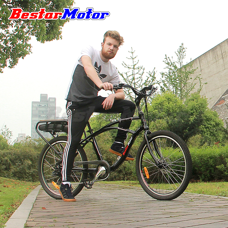 Bestar Motor 26'' 48V 500W Cruiser Style US Market Lithium Battery City Electric Bicycle