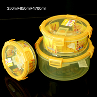silicone co-injected airtight waterproof lids container(Round)