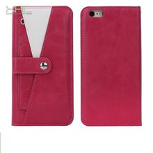 Top quality latest pu leather back cover case for iphone6