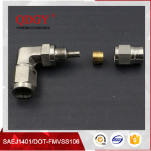AN3 Hydraulic Hose Fitting Stainless Steel 90 Degree Brake Swivel Hose Ends Fitting