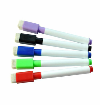 Extra Fine Nip White Board Marker Antibacterial Pen (Pack of 8 Colors)