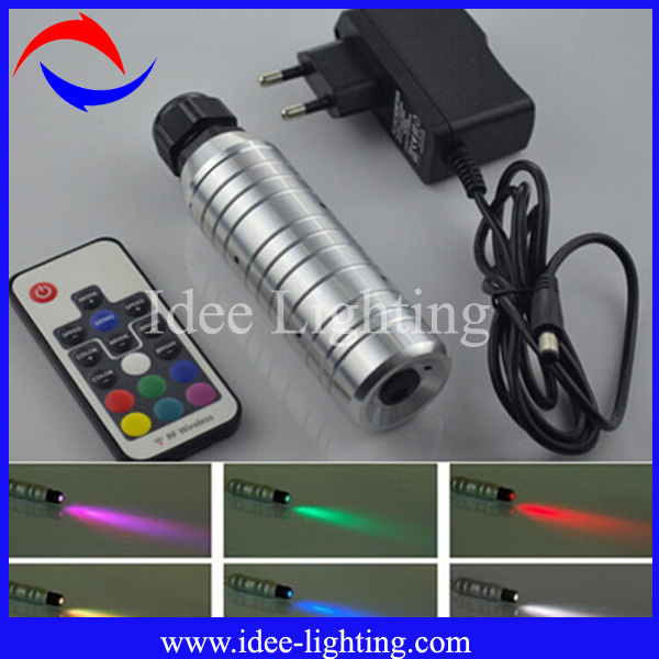 12VDC 3W LED fiber optic illuminator with remote control
