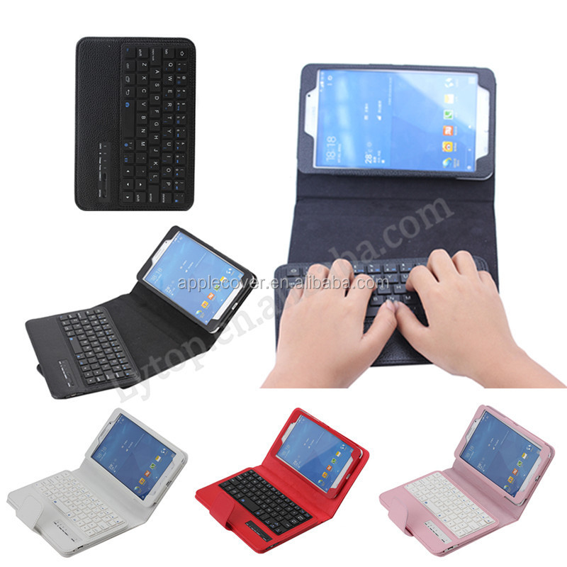 High quality ABS material Detachable bluetooth keyboard leather cover case for Samsung Tab 4 7.0 T230