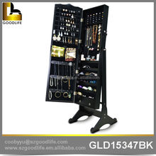 Chinese modern furniture wooden mirrored jewelry cabinet in stock