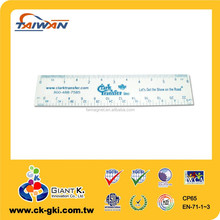 Promotional brand plastic ruler manufacturer 13cm ruler