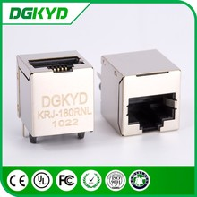 Shielded top entry rj45 connection jack with transformer , CAT5E , 0855085001