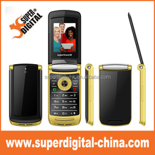 2.4inch Hand flip senior phone/dual SIM/big keyboard/back camera/FM/mp3/multi-language