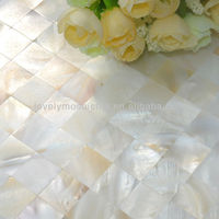 2016 white freshwater shell mosaic mother of pearl shell natural color for background hotel