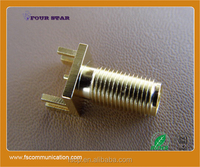 SMA Connector Female Straight for P.C.B Edge Mount B
