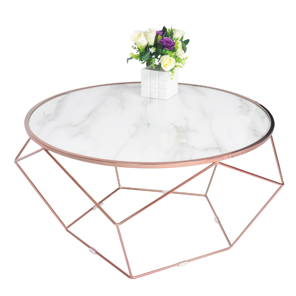 Modern Marble Diamond Shape Coffee <strong>Table</strong> for Living Room Furniture