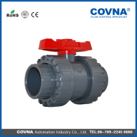 plastic injection PVC double union ball valve (socket & thread)