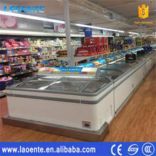 sea food/frozen meat jumbo island freezer service equipment for chain stores