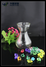 best selling craft packaging 445ml transparent large glass decorative vase for hyacinth
