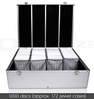 pvc surface aluminium CD case,mini cd tray, hard box for CD