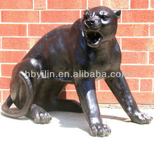 Panther Fighting Life Size Bronze Sculptures, brass Metal Statue For Sale