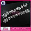 Fashion Silver Jewelry Rhinestone Diamante Bikini Connector Metal Glass Connector