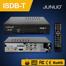 JUNUO STB Factory OEM tv decoder h.264 MPEG4 hd digital set top box tv receiver isdb-t brazil/Philippines