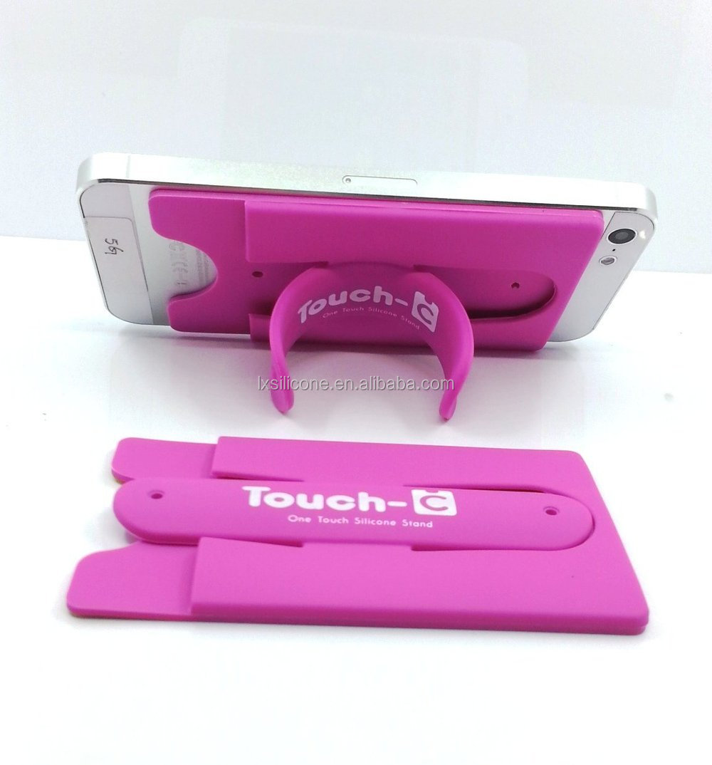 Hot promotional gift phone gadget silicone smart wallet with flexible stand
