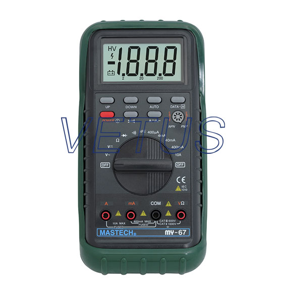 Auto Range 3 3/4 LCD display Digital multimeter MASTECH MY67 Electronic measuring instrument