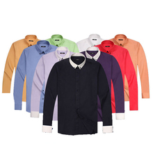Custom stylish brilliant color mens shirts by China biggest apparel manufacturer