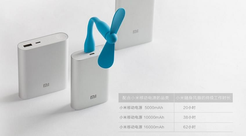 Original wholesale price Portable USB Fan Xiaomi USB Fan Flexible USB Portable Mini Fan