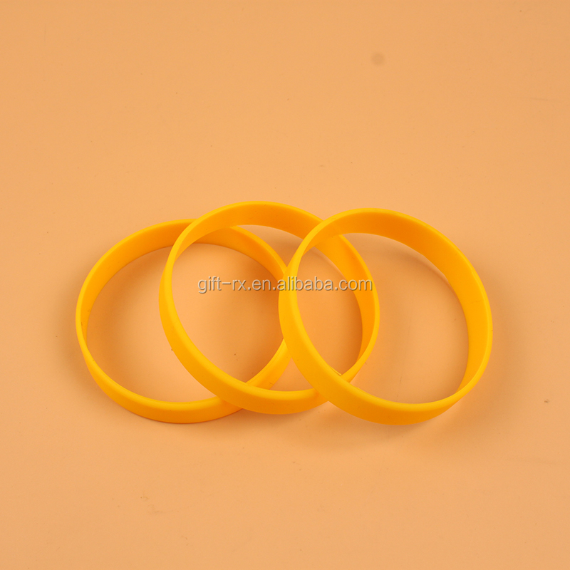 High quality yellow Silicone friendship bracelet